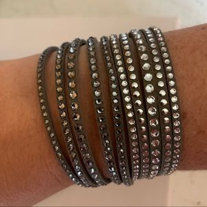 Swarovski Crystal Grey Slake Wrap Bracelet